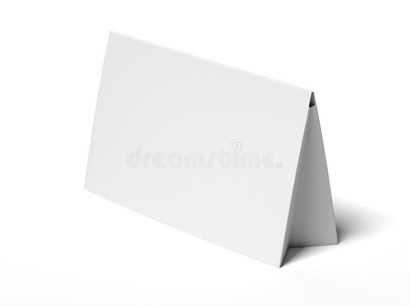 Tabela cinzenta branca dez rendição 3d ilustração royalty free