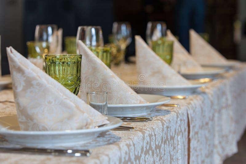 Tabela de banquete fotos de stock royalty free