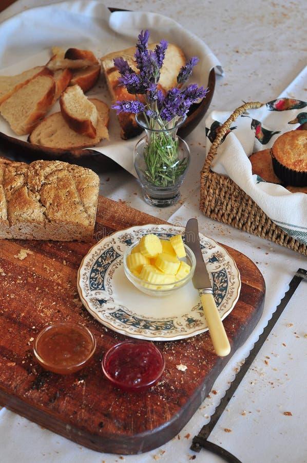 Tabela de café da manhã fotografia de stock