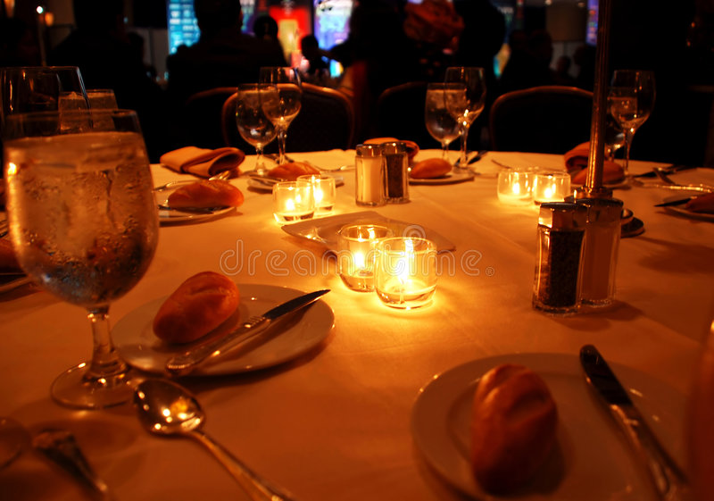 Tabela de jantar da gala fotografia de stock