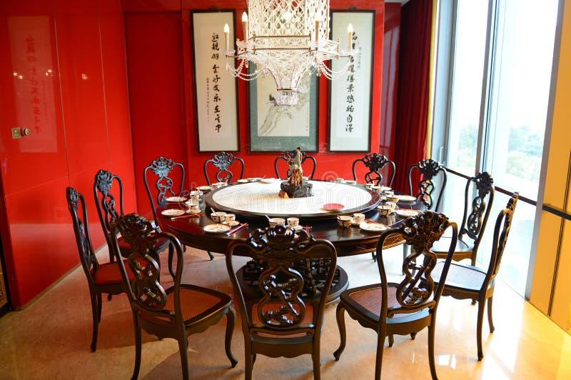 Tabela de jantar do chinês tradicional foto de stock royalty free
