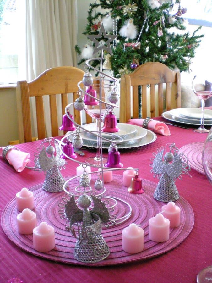 Tabela de jantar do Natal fotografia de stock