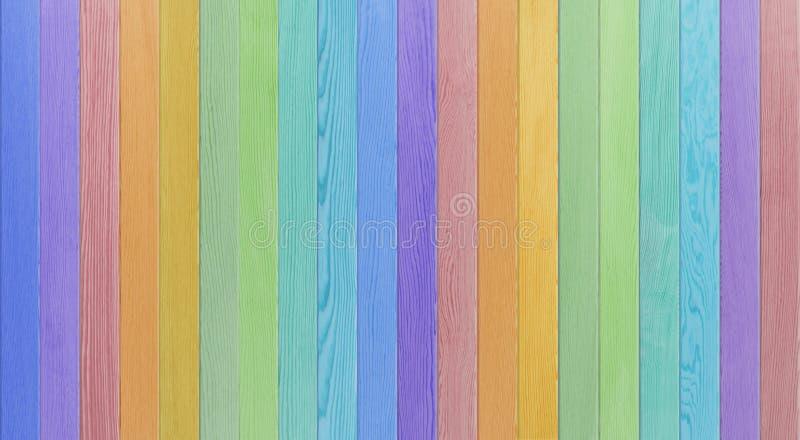 Tabela de madeira azul colorida arco-íris, opinião superior do fundo de madeira da textura fotos de stock