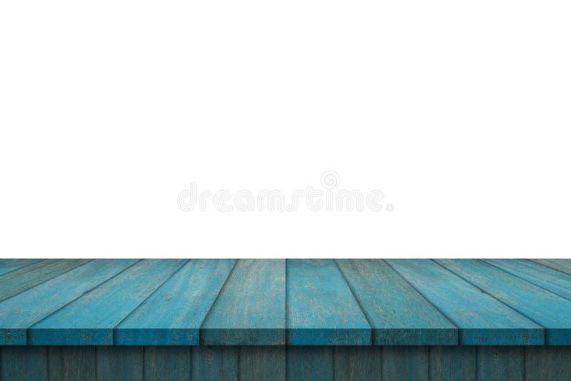 Tabela de madeira da prateleira isolada fotos de stock