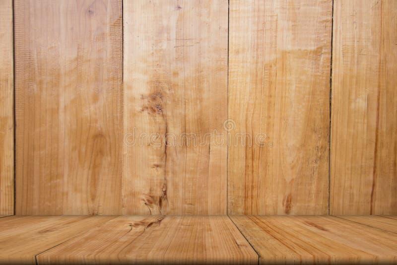 Tabela de madeira vazia do marrom, espaço da cópia, zombaria acima, abstrato fotografia de stock