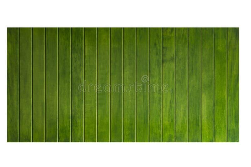 Tabela de madeira verde, opinião superior do fundo de madeira da textura fotos de stock royalty free