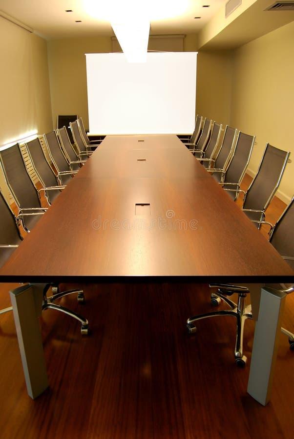 Tabela de reunião foto de stock