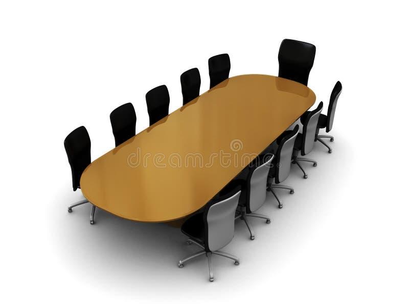 Tabela de reunião ilustração stock