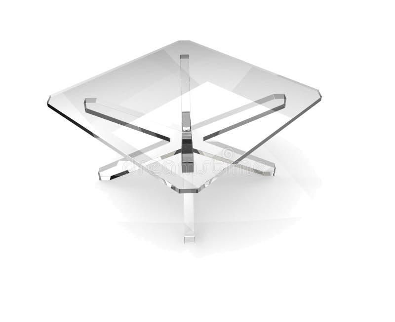 Tabela de vidro quadrada ilustração do vetor