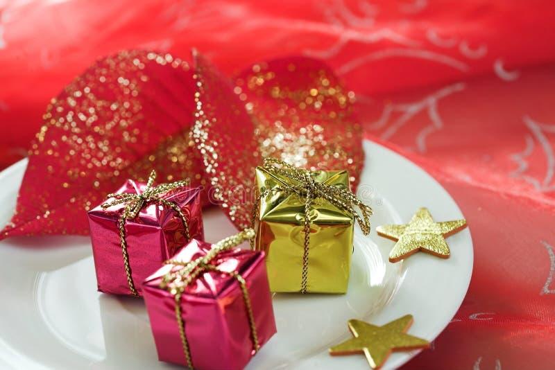tabela dekoracji świątecznej zdjęcia royalty free