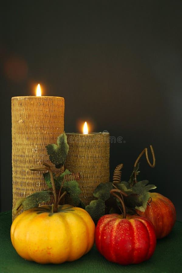 tabela dekoracji Święto dziękczynienia zdjęcia stock
