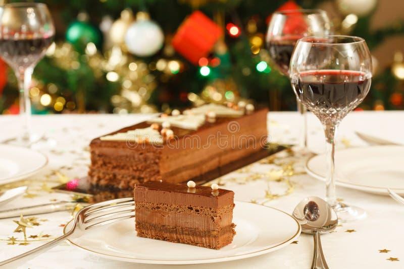 Tabela do almoço do Natal imagem de stock