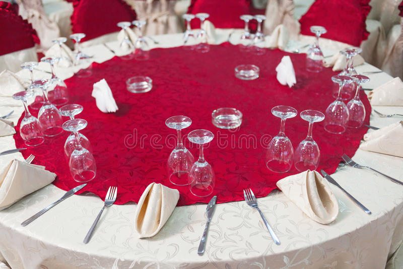 Tabela do banquete de casamento imagem de stock
