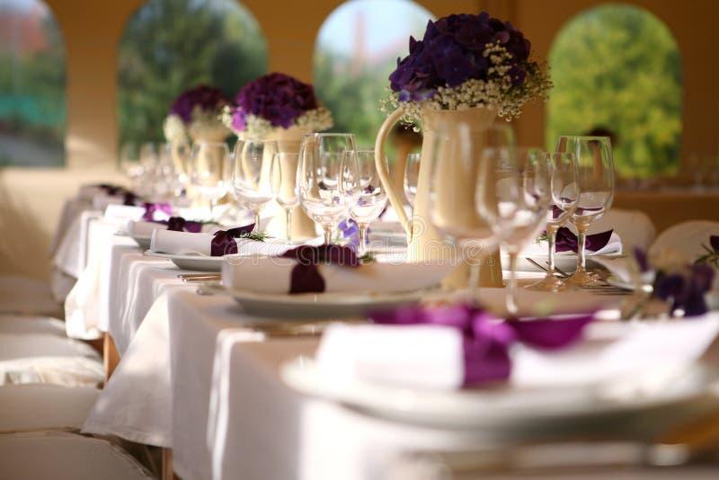 tabela do casamento foto de stock