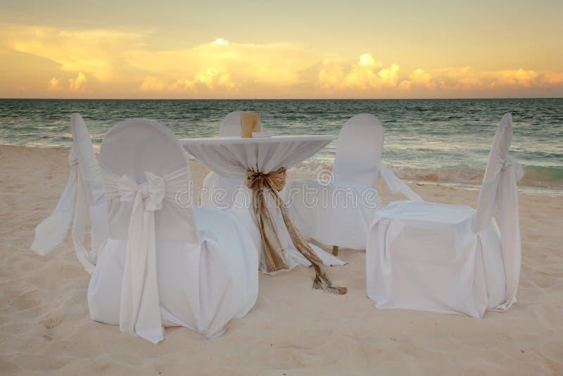 Tabela do casamento fotos de stock
