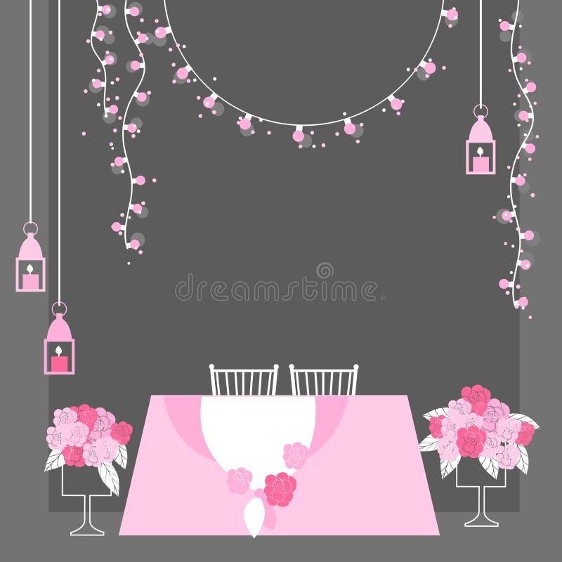 Tabela do casamento para noivos ilustração royalty free