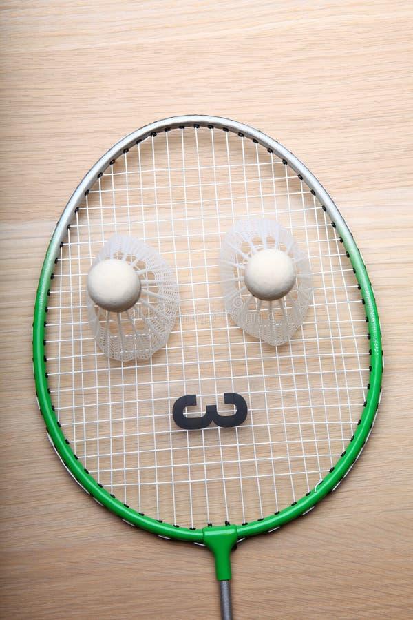 Tabela do foguete do badminton ninguém fotos de stock royalty free