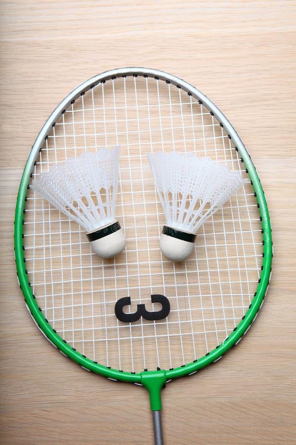 Tabela do foguete do badminton ninguém imagens de stock