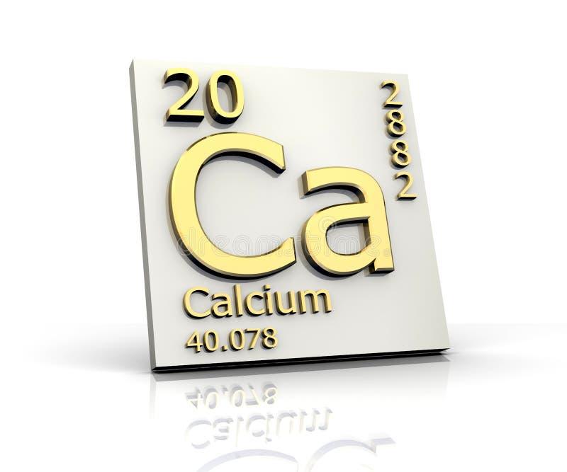 Tabela do formulário do cálcio de elementos periódica ilustração royalty free