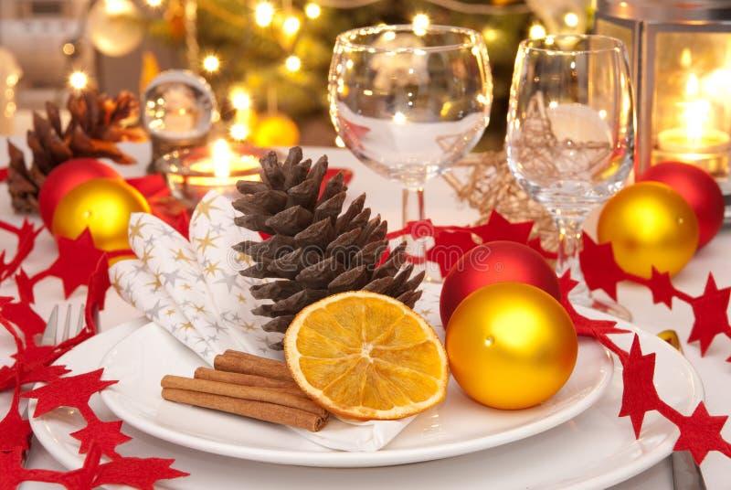 Tabela do Natal fotos de stock