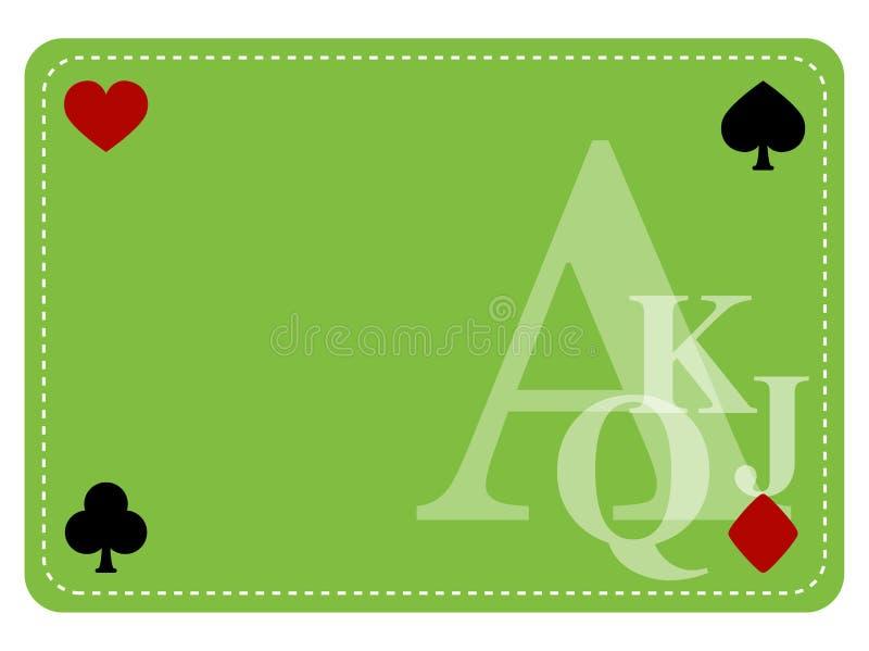 Tabela do póquer ilustração do vetor