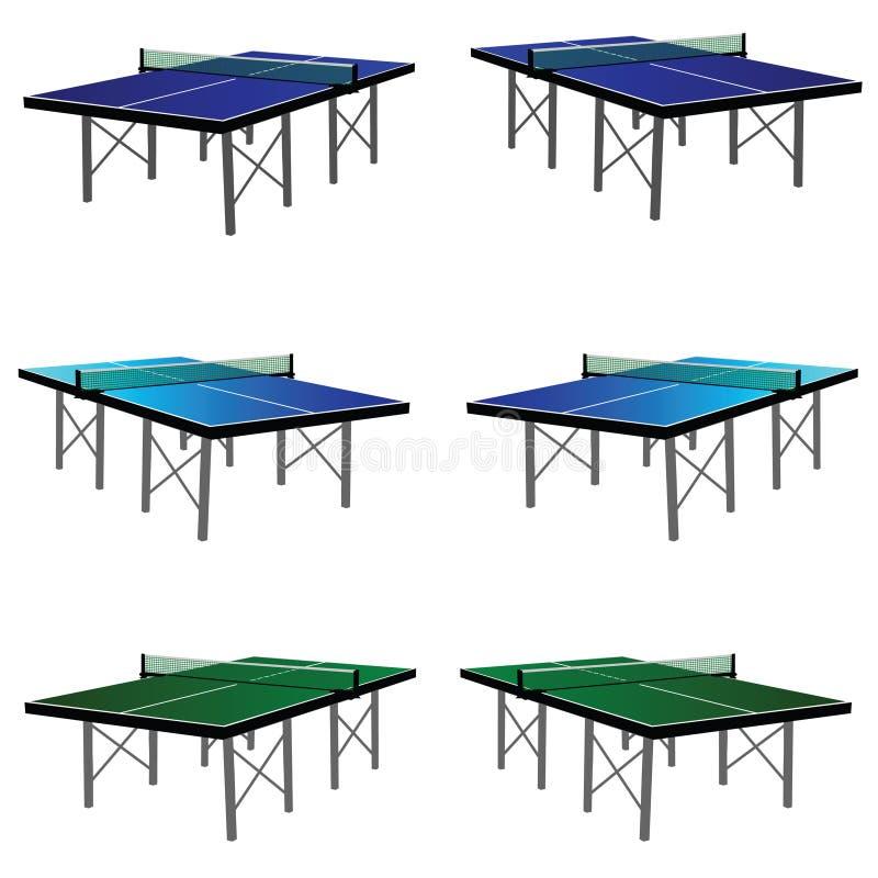 Tabela do pong do sibilo na cor três ilustração stock