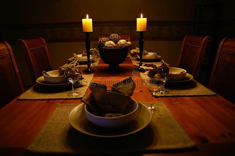 Tabela do quarto de Dinning foto de stock royalty free