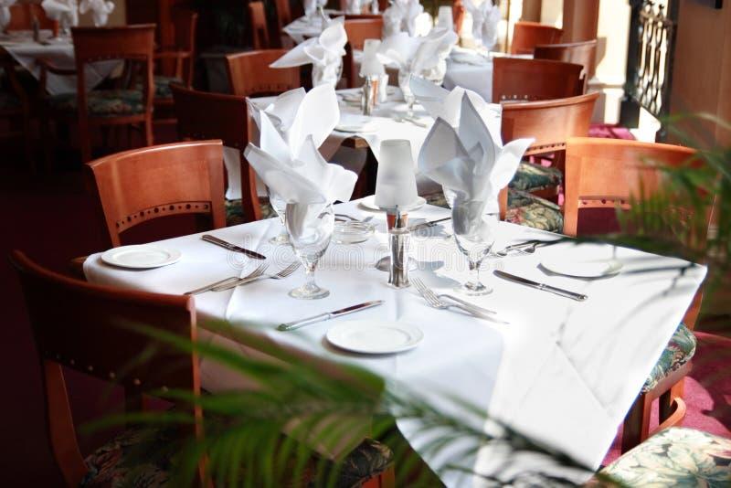Tabela do restaurante fotografia de stock