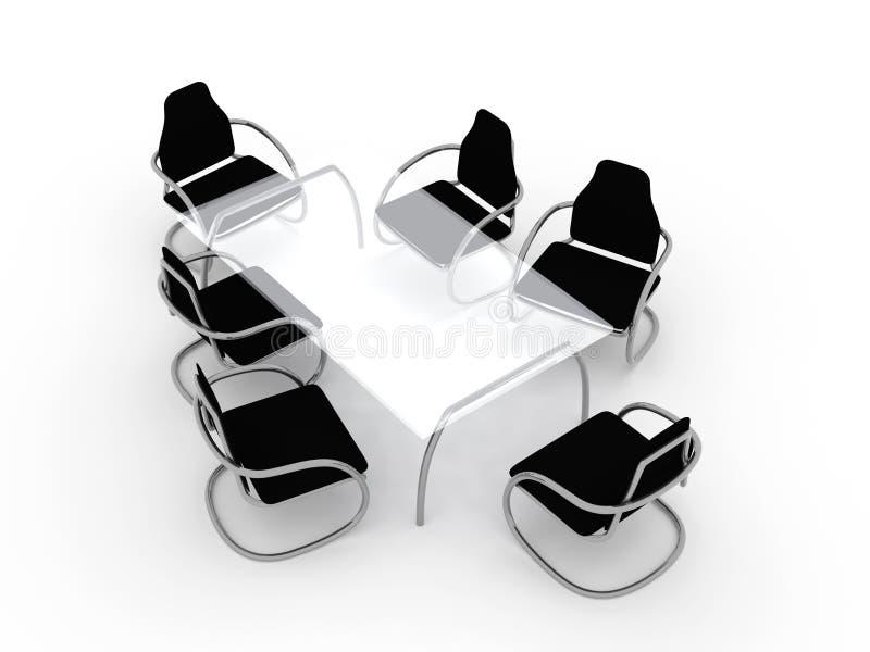 Tabela e cadeiras 1 ilustração royalty free