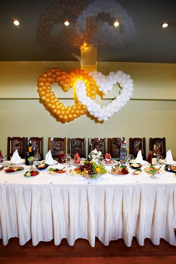 Tabela festiva do casamento foto de stock royalty free