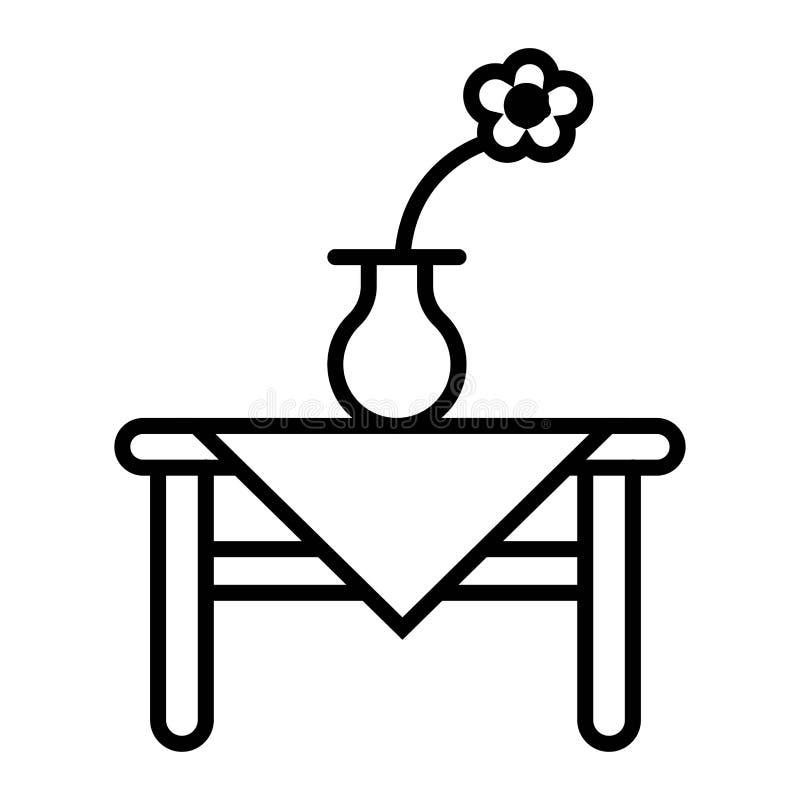 A tabela floresce o ícone ilustração do vetor
