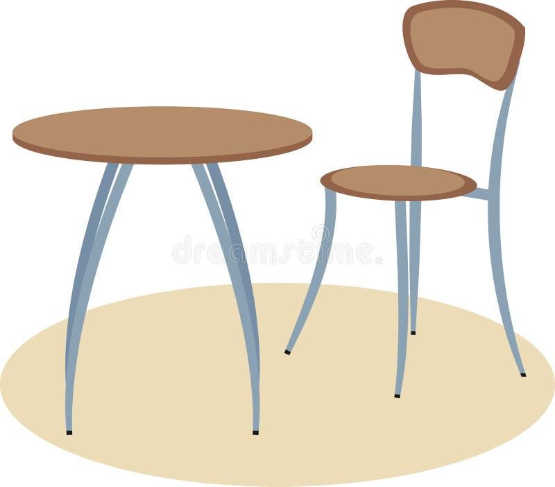 Tabela Krzesło Fotografia Royalty Free