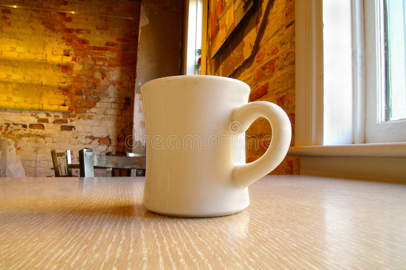 tabela kubek do kawy obraz royalty free