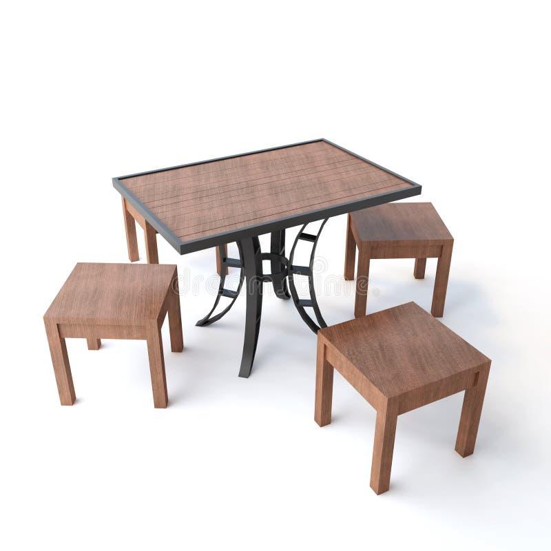 tabela odosobnione drewna ilustracja wektor