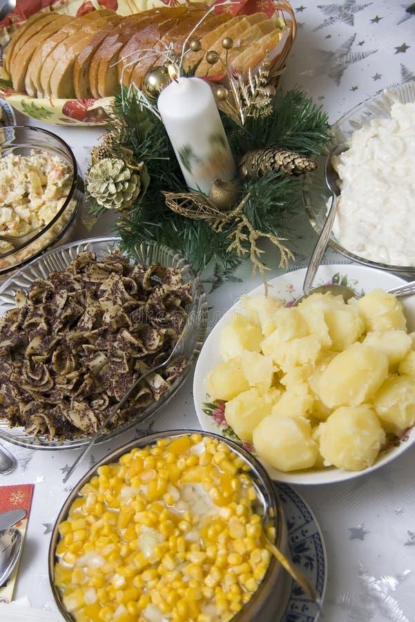 Tabela polonesa do Natal foto de stock