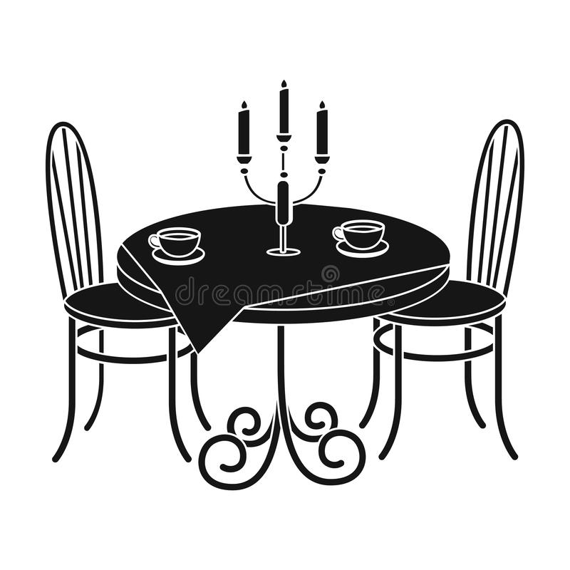 Tabela serida no restaurante ilustração do vetor