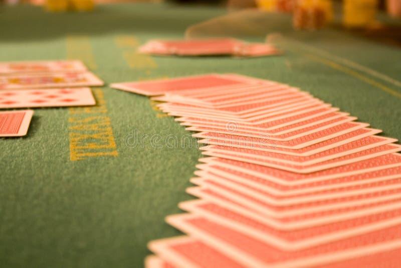 tabell för 3 poker royaltyfria bilder