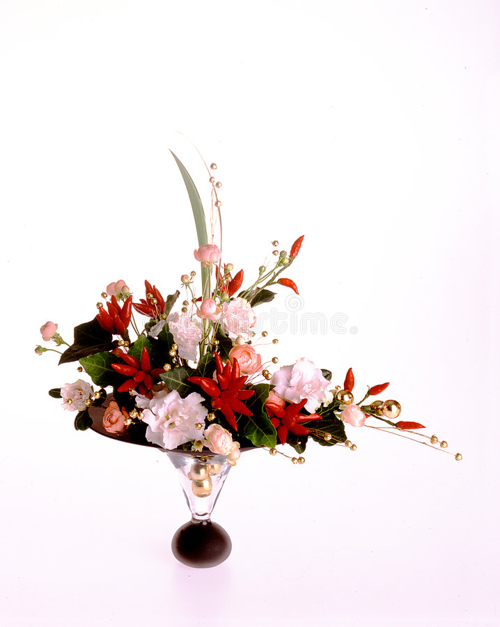 tabell för 4 blommor arkivbild