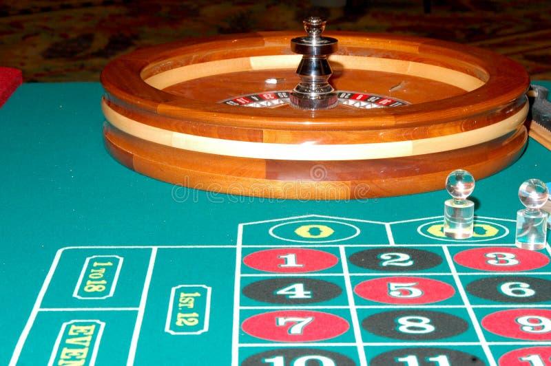 tabell för 5 roulett royaltyfria foton