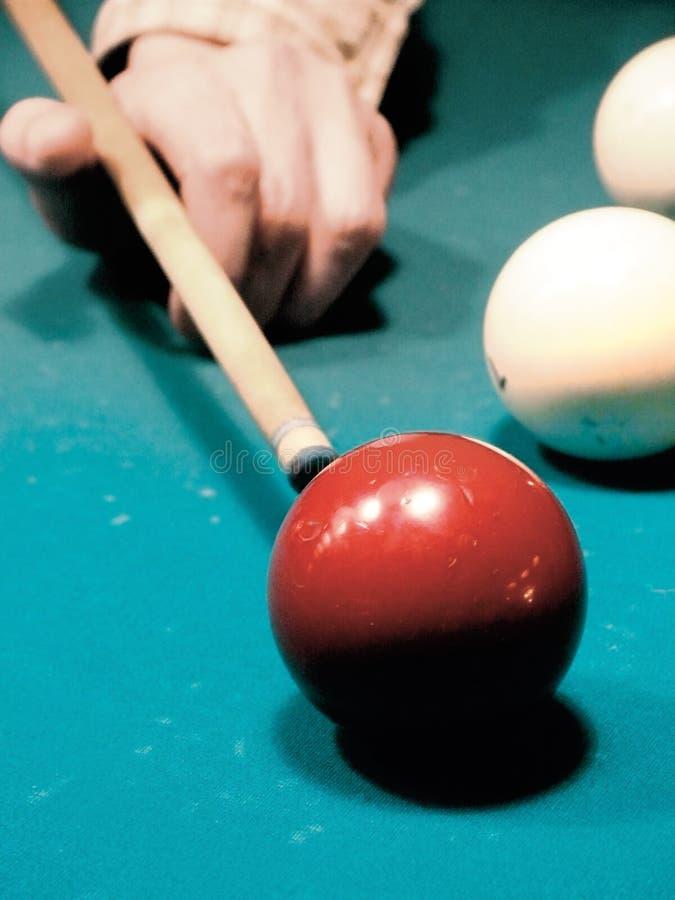 tabell för billiardbiljardspheres arkivfoto