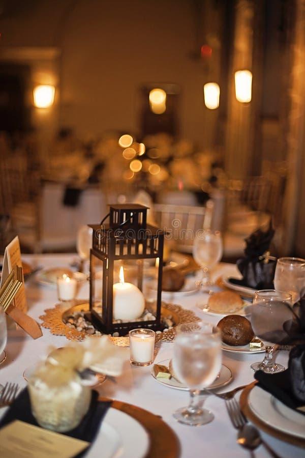Tabell för bröllopmottagande royaltyfri bild
