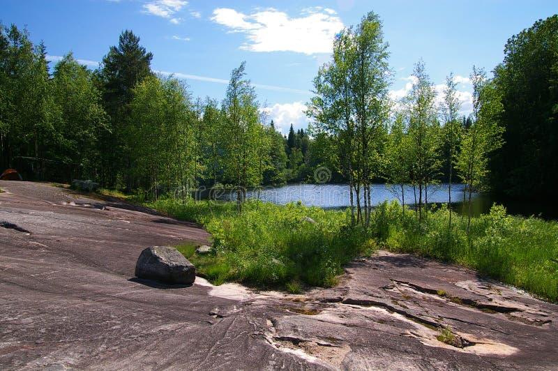Tabell-land i Karelia arkivfoton