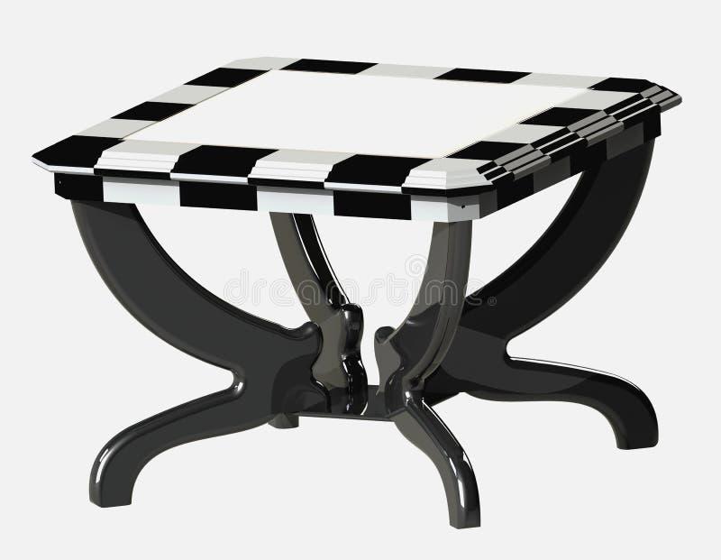 tabella 3D illustrazione di stock