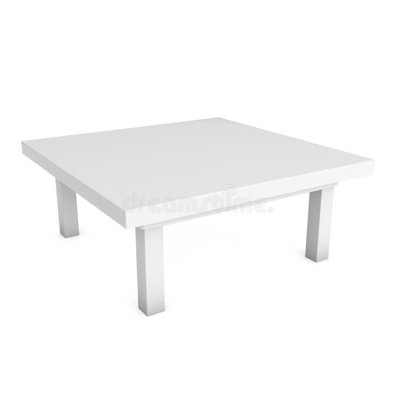 Tabella bianca 3D illustrazione di stock