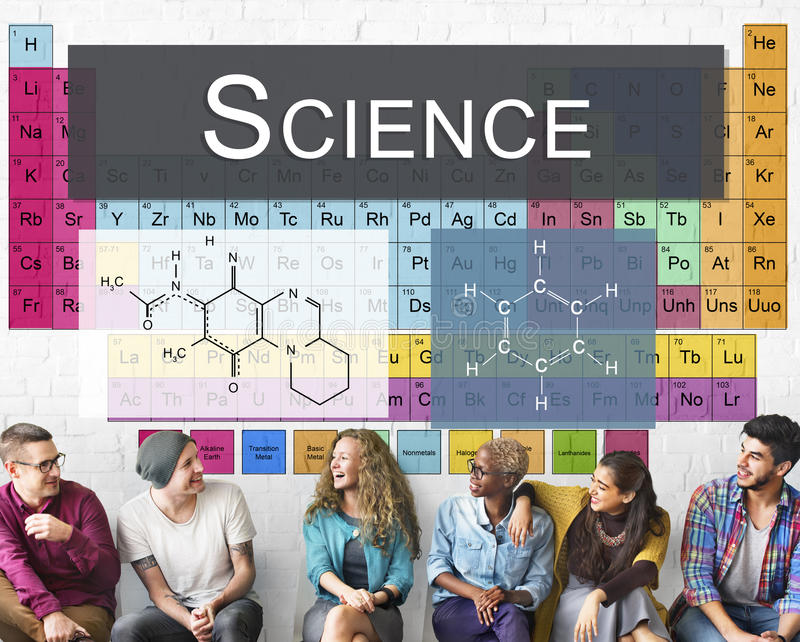 Tabella chimica di scienza di ricerca di esperimento di legame degli elementi C fotografie stock libere da diritti