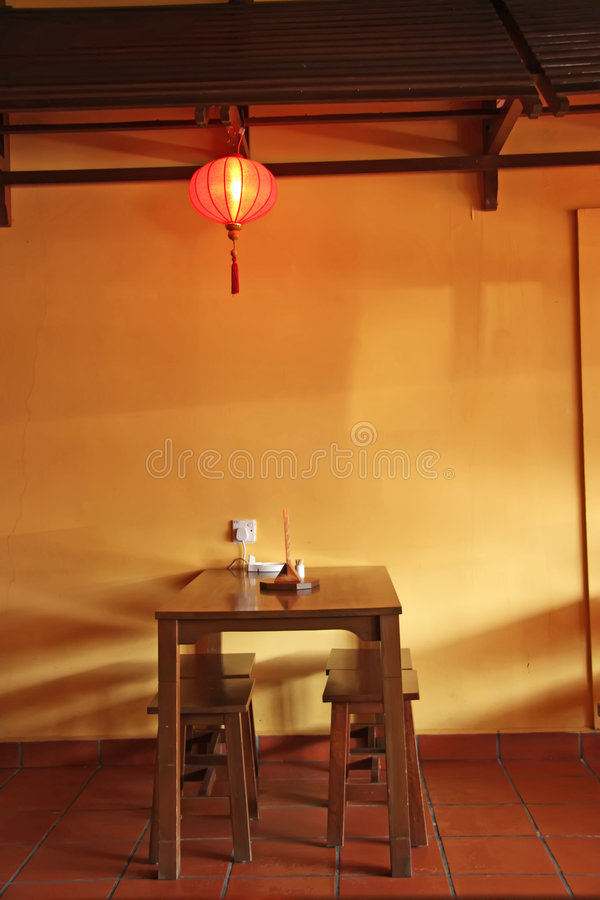 Tabella cinese fotografie stock