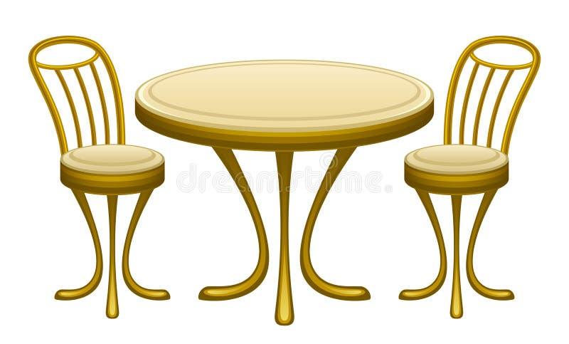 Tabella con le sedie illustrazione di stock