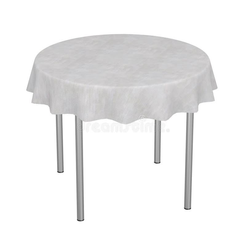 Tabella con tablecloth20 illustrazione vettoriale