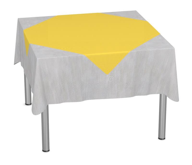 Tabella con tablecloth21 royalty illustrazione gratis