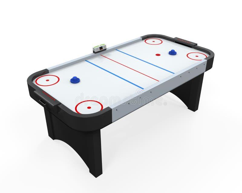 Tabella dell'hockey dell'aria isolata illustrazione di stock